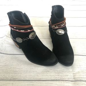 Qupid Ankle Suede Booties Cowboy Boho Boots Sochi